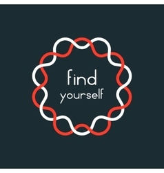 find yourself in red and white sign vector image