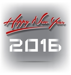 Happy New Year 2016 background vector image vector image