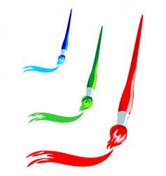 paintbrush artistic stroke vector image