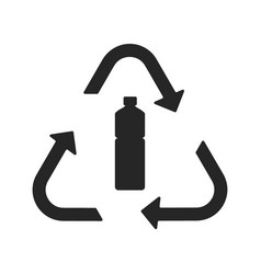 plastic recycling symbol flat icon vector image vector image