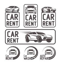 Rental Car repair wash Logo Template Design vector image