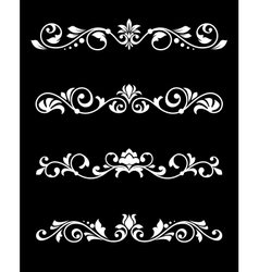 Retro borders and dividers in floral style vector image vector image