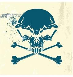 stylized human skull vector image