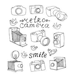 vintage camera set vector image