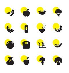 16 diet icons vector image
