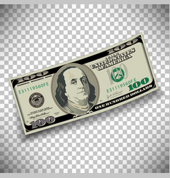 A 100 dollar bill vector