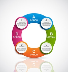 Abstract 3D business options infographics template vector