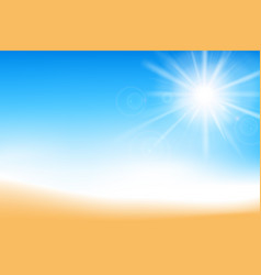 abstract blur blue sky and sand background with vector image
