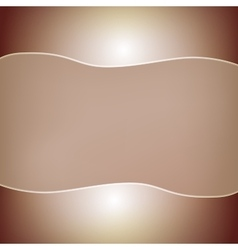 Abstract brown background with two glossy bars on vector