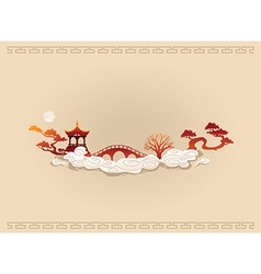 Abstract Chinese Background vector image