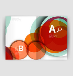 abstract circles annual report covers modern vector image