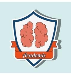 academic emblem design vector image