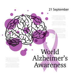 Alzheimer awareness day vector