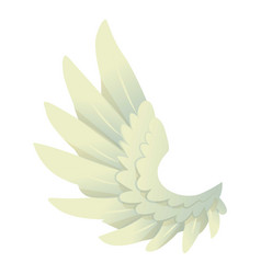 angel wing icon cartoon style vector image