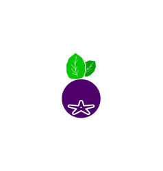 aronia berry logo template vector image