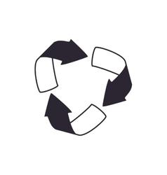 Arrow recycle eco organic icon graphic vector