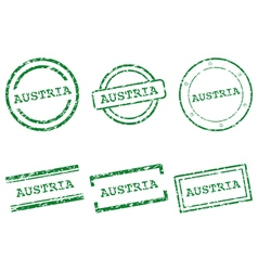 Austria stamps vector