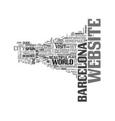 Barcelona tour text word cloud concept vector
