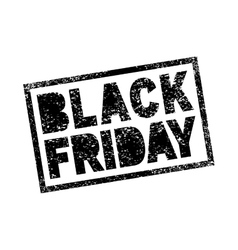 Black Friday sale scribble grunge stamp vector