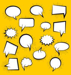 blank speech bubble vector image