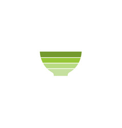 bowl stripe colored logo vector image