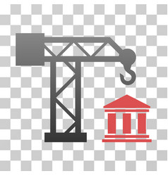 Build bank gradient icon vector
