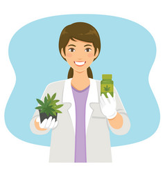Cannabis in medicine vector