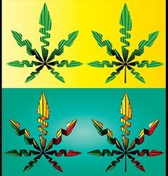 Cannabis Marijuana hemp leaf symbol vector
