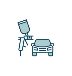 Car painting work concept colored icon vector