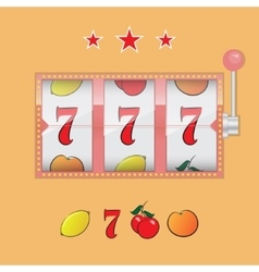 Casino slot machine vector