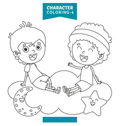 character coloring page vector image