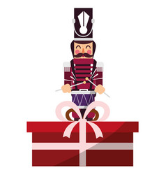Christmas nutcracker design vector