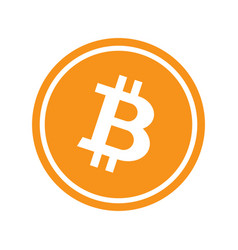 circle with bitcoin vector image