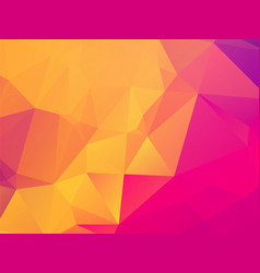 Colorful geometric pink orange background with vector