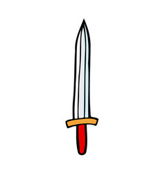 contour image of dagger vector image