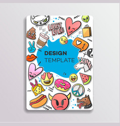 cover design with patches pattern hand drawn vector image