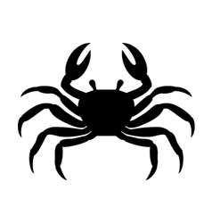 crab silhouette vector image vector image