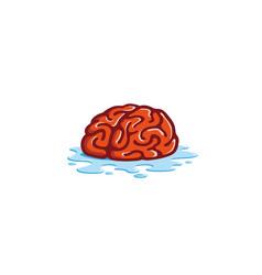 creative brain water logo vector image