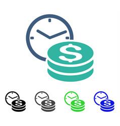 Credit flat icon vector