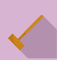 croquet mallet icon flat style vector image