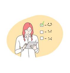 Customer assessment business feedback concept vector