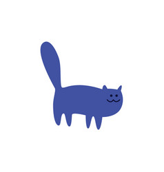 cute cat or kitten standing flat vector image