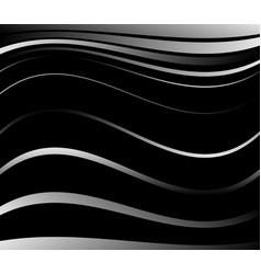 Dark background with wavy lines art vector