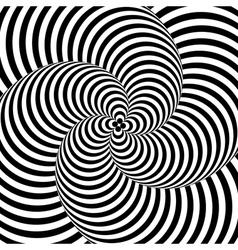 Design monochrome whirlpool motion background vector