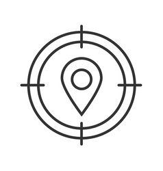 Destination searching linear icon vector