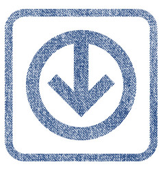 direction down fabric textured icon vector image