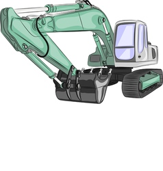 excavator a vector image