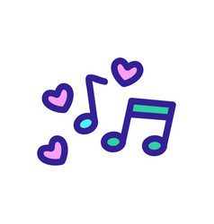 Favorite song icon isolated contour symbol vector