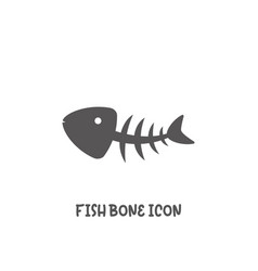 fishbone icon simple flat style vector image