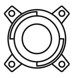Gearbox releaser icon outline style vector